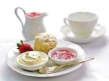 Photographie moderne boulangerie Cream Tea Scone Jam alimentaire Poster Art Print bb3115a