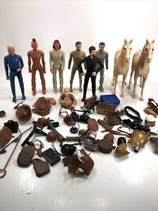 Huge Lot marx Best of the west Indian action figure Geronimo Custer Accessories