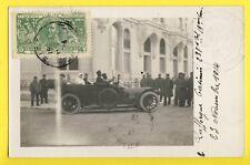 cpa Carte Photo 1914 cachet HÔPITAL MILITAIRE NEGRESCO à NICE VOITURE AUTOMOBILE