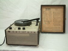 Vintage Califone 1430K Portable Phonograph Turntable Record Player