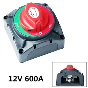 600A Battery Switch Truck/Yacht 4Position Car Cut Off Disconnect Isolator Switch