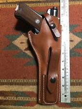 "Ruger Mark MK I II III 22Auto Leather Holster w Magazine Pouch 6.88"" Barrel Used"