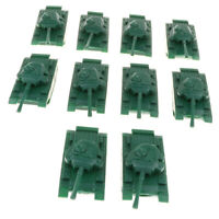 10pcs Soldiers Toy Army Base Army Men Accessories Medium Tank Model Green