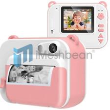 Pink Kids Instant Digital Polaroid Camera Zink Zero Ink Printing +150 Film Sheet