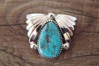 Zuni Sterling Silver Turquoise Pendant by Lyoilta Tsattie