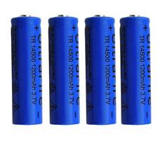 4pcs Protected 14500 3.7V 1200mAH Lithium Li-ion Rechargeable Battery Batteries