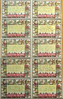1920 'Dutch Dope' Greeting Postcards w/Sayings in Dutch Accent, Set of TEN