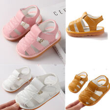 New Infant Newborn Baby Girls Boys Roman Shoes Sandals  Walkers Soft Sole Shoes