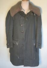 HEAVY VINTAGE SWEDISH ARMY COLD WEATHER PARKA COAT SHEEPSKIN Shearling SWEDEN XL