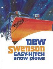 Equipment Brochure - Svenson - Easy-Hitch Snow Plows - c1973 (E4806)