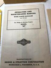 1941 Briggs-Stratton Model {6S} Manual-Parts List- Operating