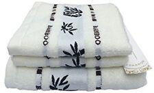 LSHARON Premium Bamboo Fiber 3 Piece Towels Set (1 Bath Towel, 2 Hand Towels) -