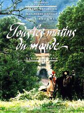 Affiche 40x60cm TOUS LES MATINS DU MONDE 1991 Corneau, Marielle, Depardieu BE