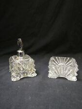 Bottiglia profumo cristallo vintage ( non pompetta) portaprofumo + portaoggetti