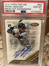 2018 Topps Tier One Break Out Autographs #MA /275 Miguel Andujar PSA 10
