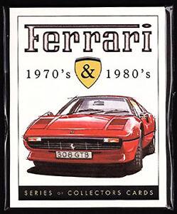 FERRARI 1970's & 1980's - Collectors Card Set - Dino 308 F40 246 288 365 512