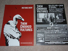 Them Crooked Vultures Dave Grohl Josh Homme John Paul Jones Japan flyer poster