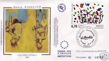 2914 FDC ENVELOPPE 1er JOUR SOIE GEORG  BASELITZ