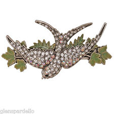 Kirks Folly Bird Of Paradise Barrette (Antique Silvertone)  large free fast ship
