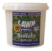 Lawn Pro  Buffalo Lawn Seed 7.5Kg (3 x 2.5Kg containers) Covers 750sqm