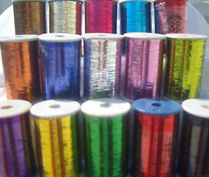 15 Spools of LUREX  High Quality Thread 2500 Meters each, 15 Different Colors