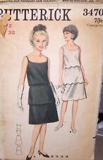 Butterick 3470 Vintage Party Dresses Pattern Sz 12