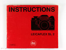 Original Leica Leicaflex SL 2 Instruction Manual -40 pages, printed October 1974