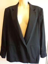 Wool Blend V-Neckline Solid Coats & Jackets for Women