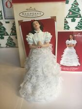 Scarlett O'Hara White Dress Christmas Gone Wind Hallmark Keepsake Ornament NIB