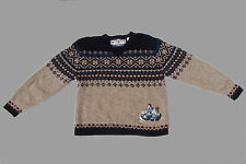 Disney Store  Mickey's Ski Lodge Wool Sweater with embroidered characters Size L
