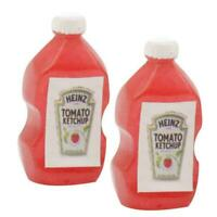 1/12 Dollhouse Miniatures Metal Sign Advertising Ketchup Bottle A3A6