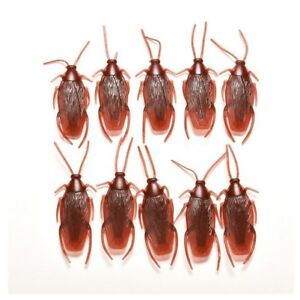 FAKE COCKROACH JOKE PROP GAG COCKROACHES INSECT PLASTIC BUG TOY PRANK