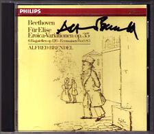 Alfred Brendel firmato Beethoven eroica variations per Elise Bagatelles CD