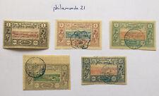 Lot timbres Cote des Somalies neuf + oblitérés  charnière. YT FR SO 6,8,9,11,15