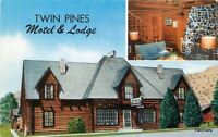 1950s Twin Pines Motel Lodge interior Entrance Dubois Wyoming roadside Lynx