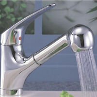 Replacement Home Kitchen Faucet Spray Sink Chrome Sprayer Shower Pull Out Head G