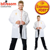 CA609 Leg Avenue Good Doctor Lab Coat Doctors Mens Scientist Fancy Dress Costume