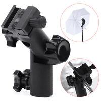 Flash Type E Hot Shoe Umbrella Holder Swivel Bracket Mount Light Stand for DSLR