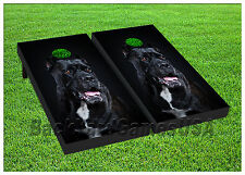 Vinyl Wraps Cornhole Board Decals Black Dog Bag Toss Game Stickers 292