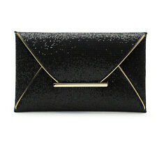 Women Glitter Sequins Handbag Party Evening Envelope Clutch Bag Wallet Purse