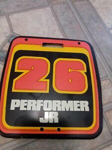Super Rare Old School NOS Performer JR  BMX Number Plate