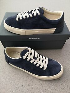 Marc O'Polo Herren Schuhe Sneaker Halbschuhe Leder Blau Gr.41 NEU LP:109€