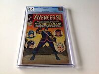 AVENGERS 19 CGC 6.0 ORIGIN HAWKEYE 1ST SWORDSMAN STAN LEE STORY MARVEL COMICS
