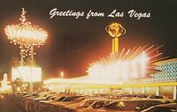 Postcard Stardust Hotel Strip Las Vegas NV Posted 1974 Illuminated Parked Cars