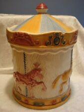 "Vintage Carousel Horse COOKIE JAR ""Treasure Craft"" Glazed Ceramic Kitchenware"