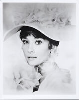 Audrey Hepburn studio portrait in white hat My Fair Lady 8x10 photo