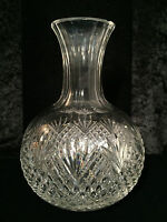 VTG/Antique AMERICAN BRILLIANT CUT-CRYSTAL GLASS Diamond Quilt CARAFE DECANTER
