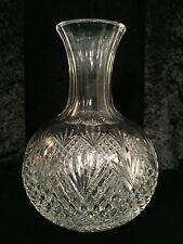 VTG/Antique AMERICAN BRILLIANT CUT-CRYSTAL GLASS Diamond Quilt CARAFE DECANTER