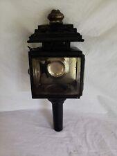 Vintage Carriage Railroad Black Lamp Light Lantern