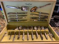 Oneida Community South Seas Silver Plate 51 pc. Flatware w/Chest EUC Circa 1950s